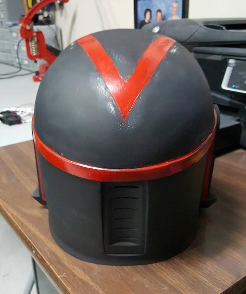 Custom Mandalorian Helmet(Back) by RexFan684