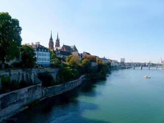 The Rhine in Basel/Switzerland by Lupsiberg