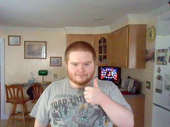 Me giving a thumbs-up