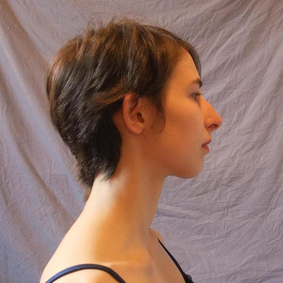 Face side - hair down by CuriousPeaches on DeviantArt