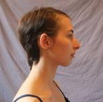 Face Portrait - hair pinned