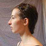 Face side view - hair pinned