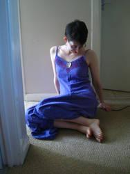 Purple Dress Sitting 3 by CuriousPeaches