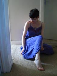 Purple Dress Sitting 5 by CuriousPeaches