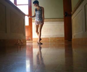 Marble Hallway 1 by CuriousPeaches