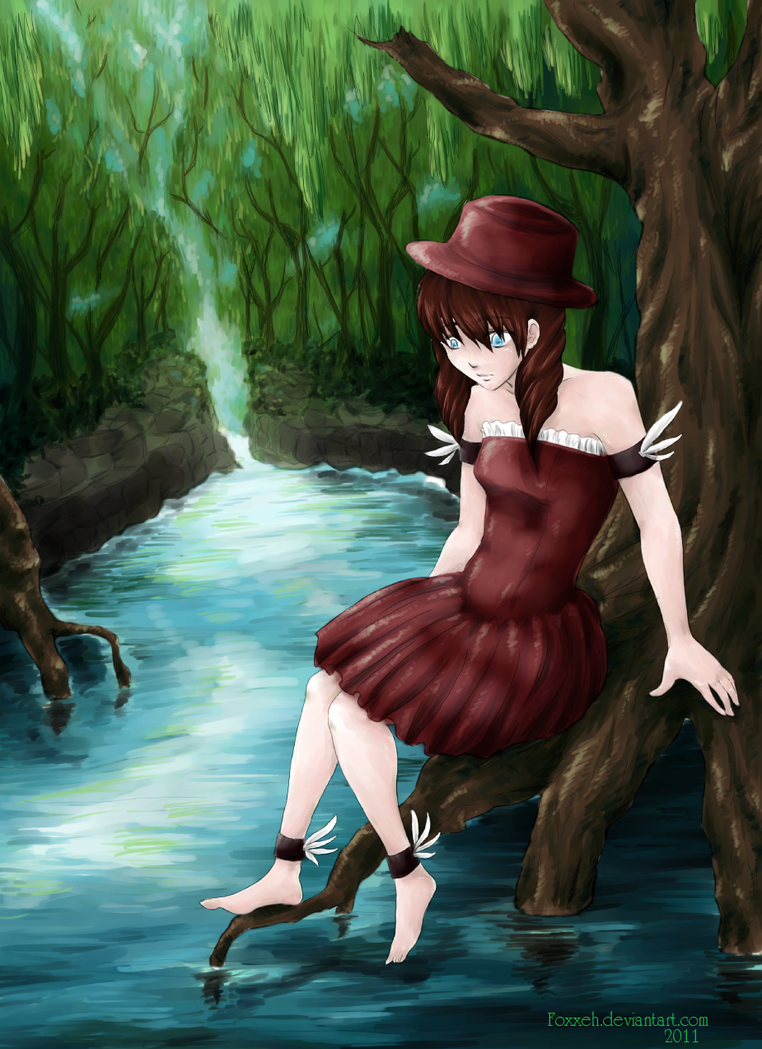 Lady in the Water Trees by Foxxeh