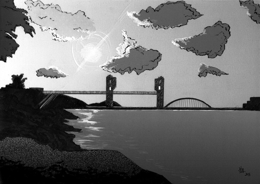 Tama River by Foxxeh