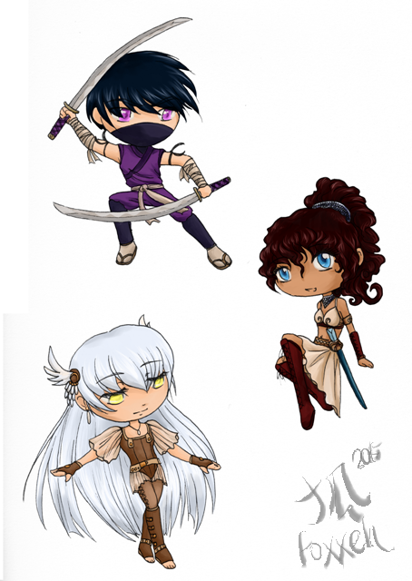 Chibi Designs by Foxxeh