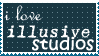 i love illusive stamp by loewenhertz
