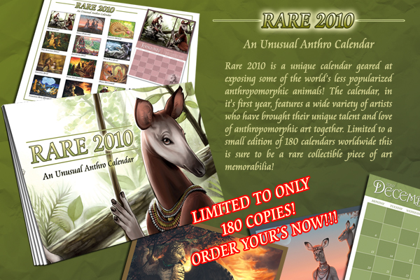 RARE 2010 Calendar by anthrocalendar