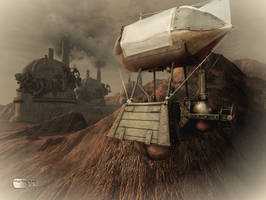Steampunk Dirigible II by Diarment
