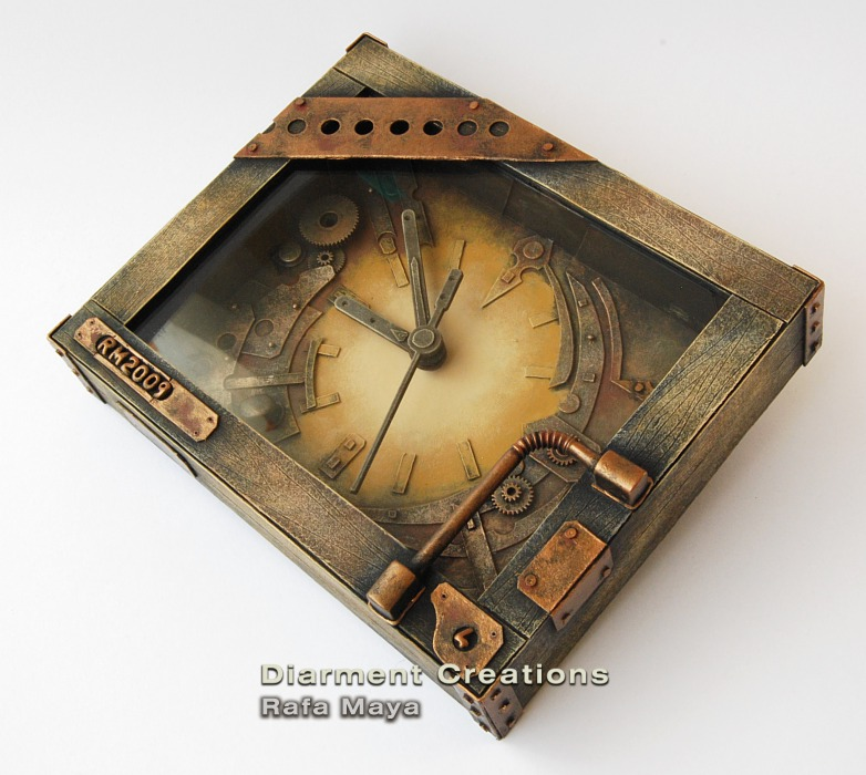 Steampunk clock iv by diarment on deviantart for Steampunk arts and crafts
