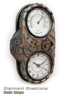 Steampunk Clock an Thermometer