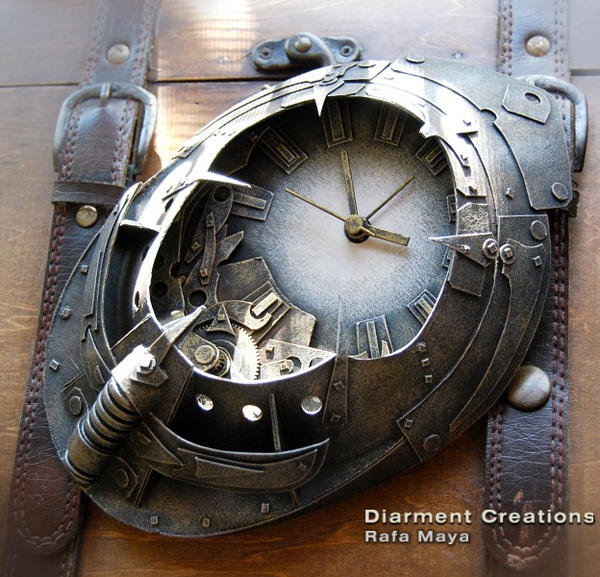 Steampunk Clock Atlantis by Diarment