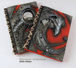 Biomechanic Dragon Notebook