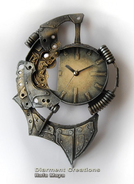 Steampunk clock xxv by diarment on deviantart for Steampunk wall clocks for sale