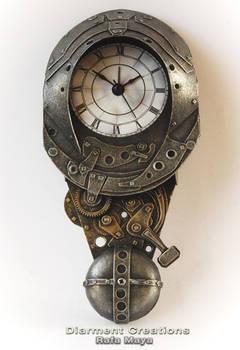 forged metal clock