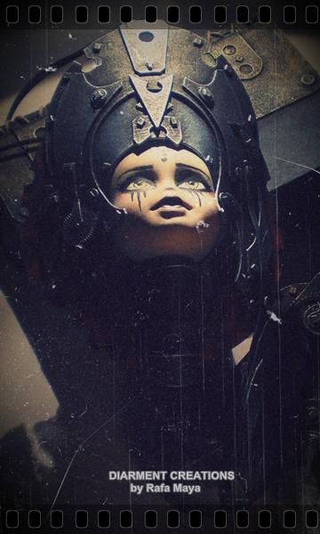 steampunk dark doll by Diarment