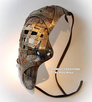 steampunk iron half mask