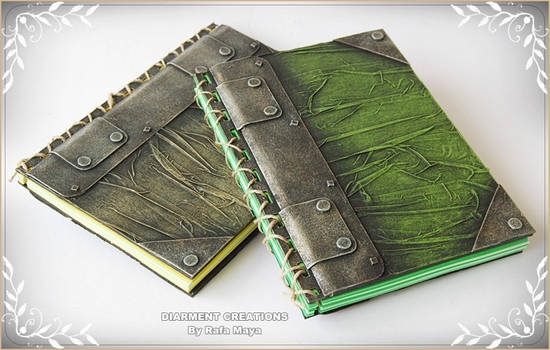 notebook metal and leather