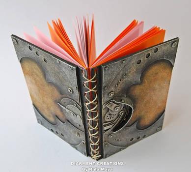 steampunk orange notebook