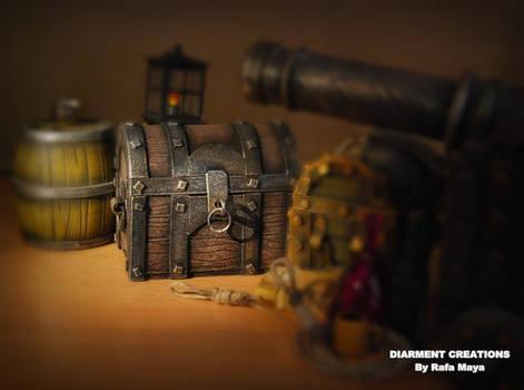 miniature chest handmade