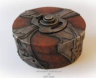 Steampunk Round Box