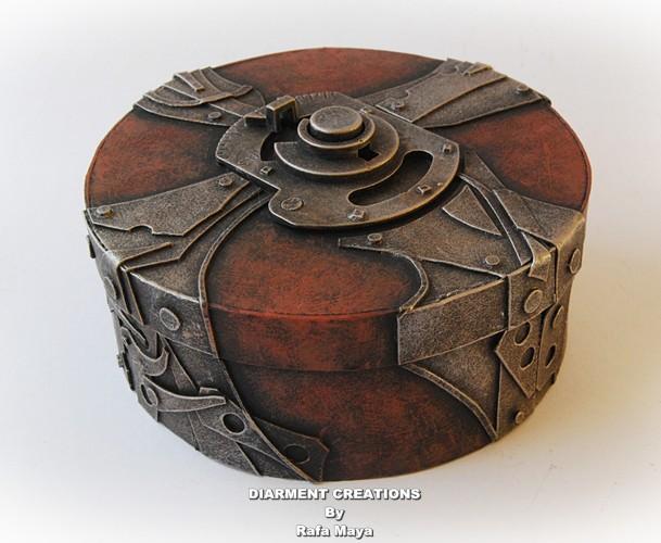 steampunk round box by diarment on deviantart