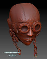 Steampunk Girl WIP bust by Diarment