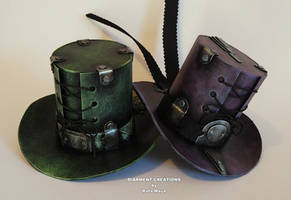 Steampunk mini tophats by Diarment