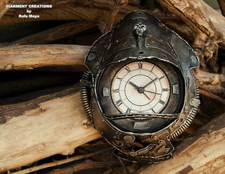 Steampunk Metal clock by Diarment