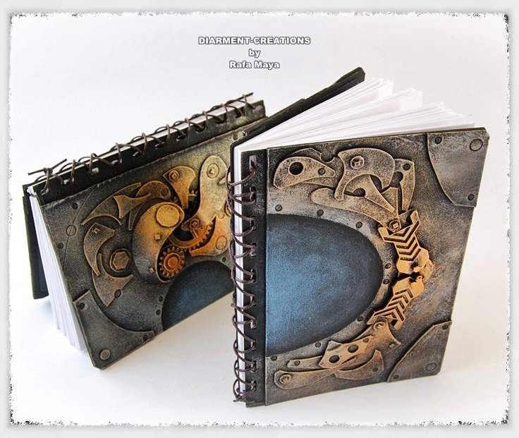 Steampunk sketchbooks by Diarment