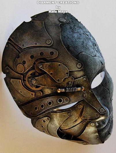 Steampunk Metal Stone Full Mask