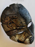 Steampunk Metal Stone Full Mask