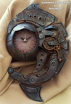 Steampunk Clock Spiral