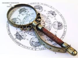 Steampunk magnifying glass by Diarment