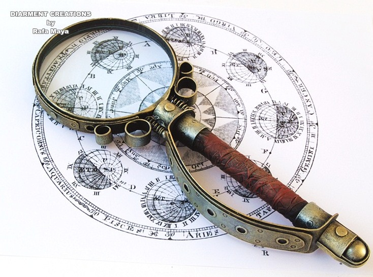 Steampunk magnifying glass