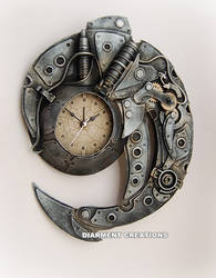 Steampunk Spiral Time clock by Diarment