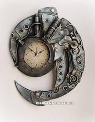 Steampunk Spiral Time clock