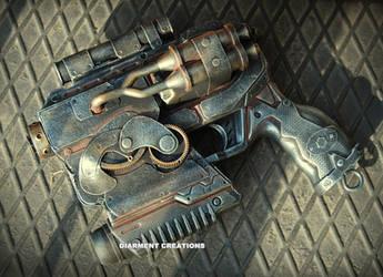 Steampunk Ray Gun 13 by Diarment