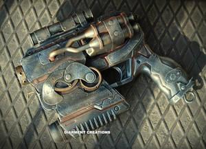 Steampunk Ray Gun 13