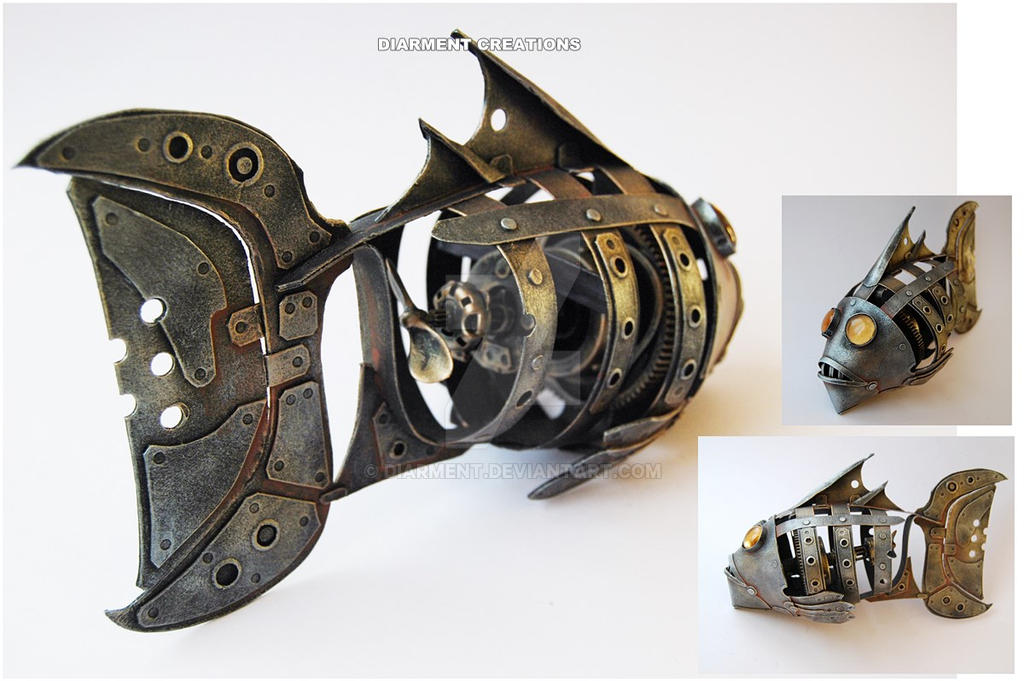 Steampunk Fish by diarment by Diarment