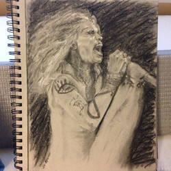 Steven Tyler Portrait by PaintedLiLy
