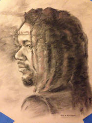 Ernesto Portrait, charcoal and pastel. by PaintedLiLy