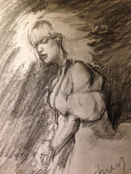 Courtney Love Sketch by PaintedLiLy