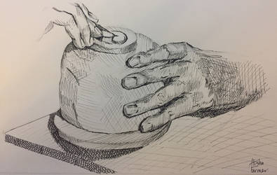 Raku Kichizaimon XV Hands by PaintedLiLy
