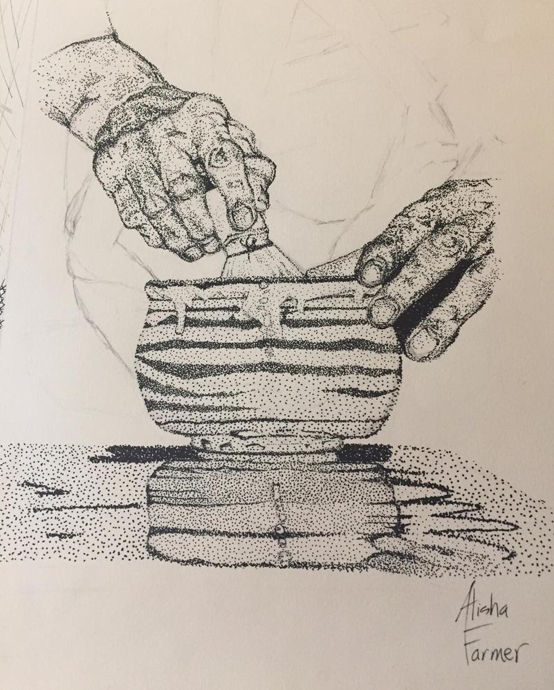 Sen Soshitsu XV Hands by PaintedLiLy
