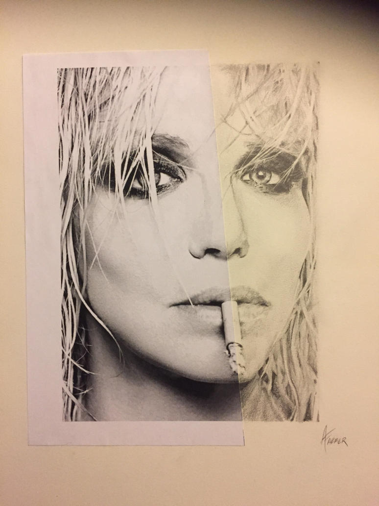 Courtney Love Half Portrait Practice by PaintedLiLy