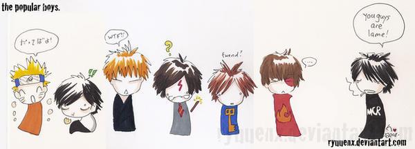 the popular boys. by ryuuenx