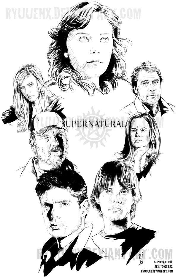 Supernatural truly epic by ryuuenx on deviantart for Supernatural coloring pages